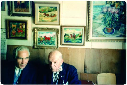 П.Д. Корин и Давид Бурлюк. Фото Миры Петровской.
