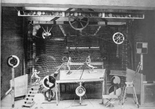 Г.Б.Якулов. Макет декорации к балету «Стальной скок» на музыку С.С.Прокофьева. 1927