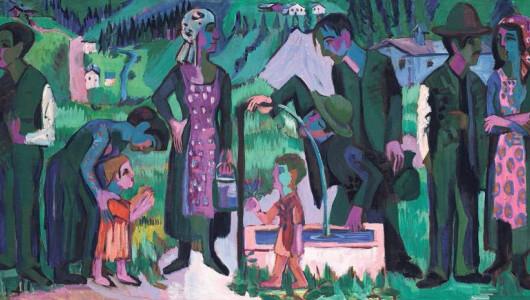 Ernst Ludwig Kirchner Alpsonntag. Szene am Brunnen, 1923–1925. Öl auf Leinwand, 168 x 400 cm. Kunstmuseum Bern