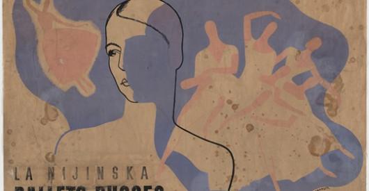 Фрагмент плаката работы Юрия Анненкова для Брониславы Нижинской и труппы Дягилева