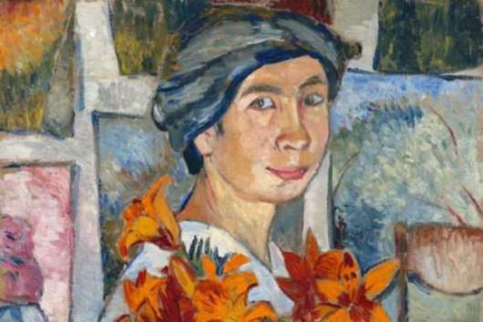 Автопортрет с желтыми лилиями. 1907–1908 (фрагмент)