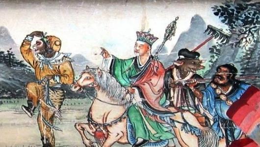 Иллюстрация к «Путешествию на Запад» (фрагмент). Изображение: ru.wikipedia.org