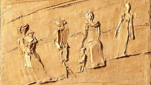 Борис Кочейшвили. Женщины. 2009. Фанера, гипс, акрил. (фрагмент)