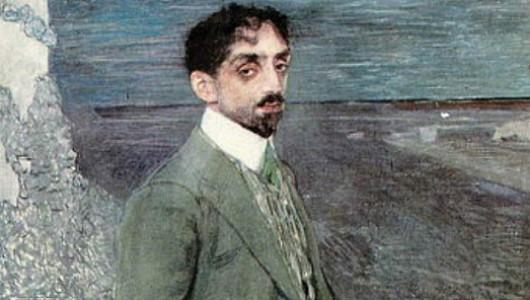 Александр Головин. Портрет М. А. Кузмина. 1910 (фрагмент)