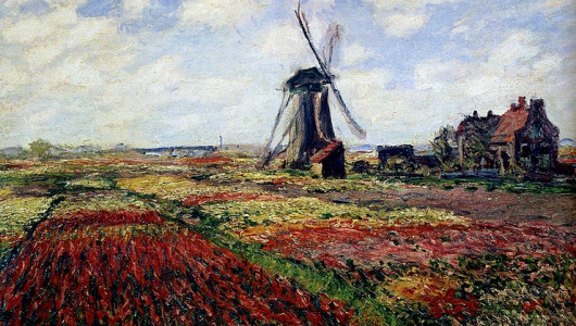 Claude Monet. Tulip Fields With The Rijnsburg Windmill. 1886, Private collection