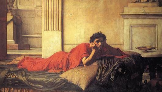 «Нерон мучается от угрызений совести после убийства матери», картина Джона Уильяма Уотерхауса, 1878 г.