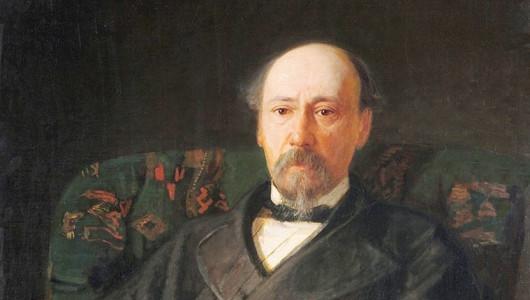 Н. Н. Ге. Портрет Н. А. Некрасова, 1872 (фрагмент)
