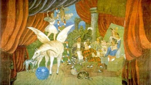 Пабло Пикассо. Занавес к балету «Парад». 1917. Париж, Центр Жоржа Помпиду